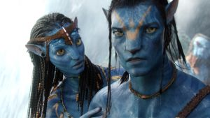 Neytiri mit Jake Sully's Avatar