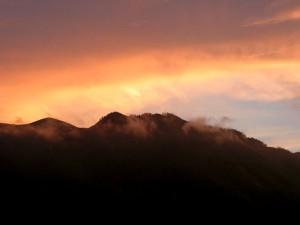 Sonnenuntergang in der Steiermark
