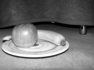 Apfel und Banane konnten mein vegetarisches Monster nicht locken...