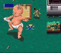 Der erste Kampf gegen ein Riesenbaby